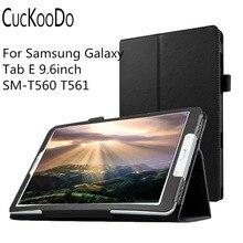 """Para samsung galaxy tab e 9.6 pulgadas, delgado plegable cubierta case para samsung galaxy tab e 9.6 """"sm-t560 t561 tablet"""