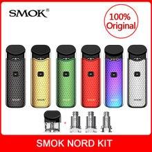 Оригинальный SMOK Nord комплект со встроенным аккумулятором + катушки + Pod 3 мл для электронная сигарета smok nord pod вейп набор VS SMOK novo vape комплект