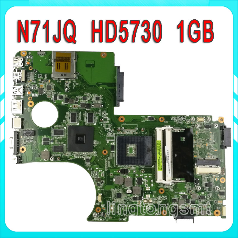 все цены на N71J N71JQ Laptop motherboard For Asus N71JA REV2.0 Mainboard Support i3/i5/i7 Processor HD5730 1GB 216-0772003 fully tested онлайн