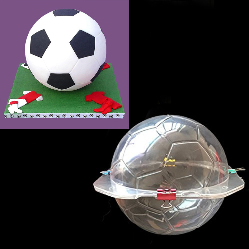 3D Football Mold Soccer Chocolate Mold Candy SugarPaste Cake Decorating Tools For Home Baking Cake Mold Kitchen Accessories H811