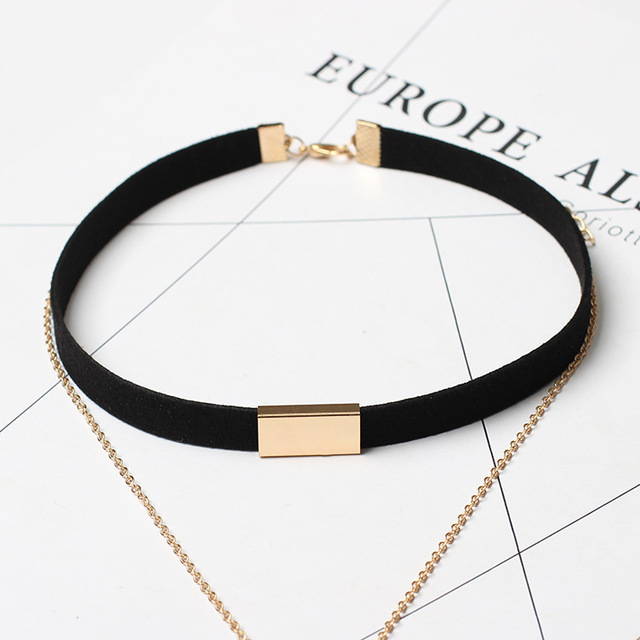 long necklace Allergy Hot Sale Y Style Chain Long Necklaces & Pendants Rose Gold Plated Strip Bar Jewelry For Women  C162 C161