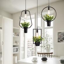 Современный завод с одной головкой подвесная кухонная лампа ресторанов Бар Декоративное освещение дома светильник креативный обеденный светильник E27