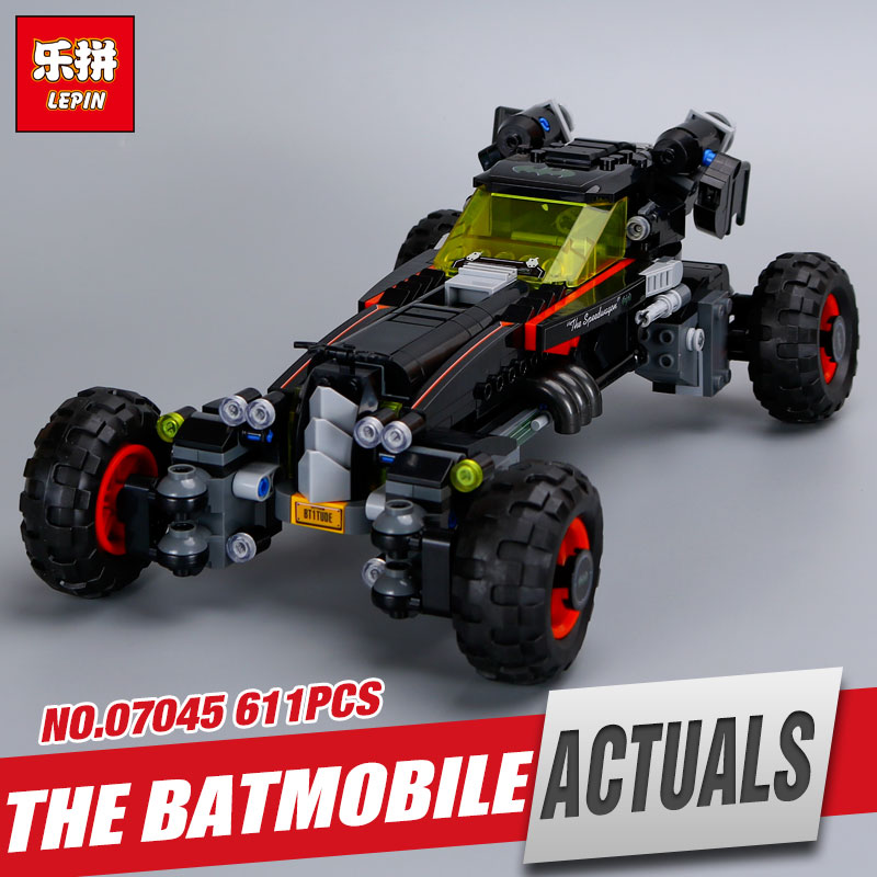 Lepin 07045 611pcs Genuine New Superhero Movie Series The Batman Robbin`s Mobile Set Building Blocks Bricks Toys 70905 ACTUALS gonlei new 610pcs 10634 batman movie the batmobile building blocks set diy bricks toys gift for children compatible lepin 70905