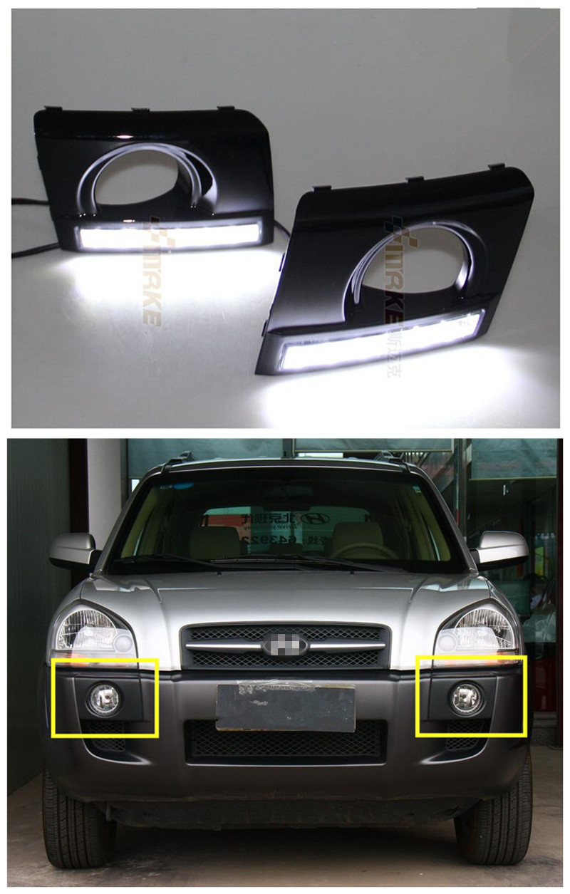 Led Drl Daytime Running Lights Led Front Bumper Fog Lamp
