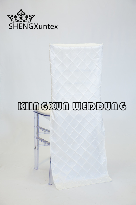 White Color Taffeta Pintuck Chair Cap  Chair Sash Hood Chiavari Chair Cover For Wedding Party Decoration