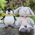 35cm Factory direct sale Wholesale NICI standing wear scarves penguin /clothes snow rabbit for birthday gift 1pcs