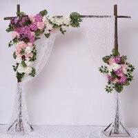 1.2M x 1.2M White with purple green grass Wedding Flower Wall Artifical Silk Flower Backdrop Wedding Decoration