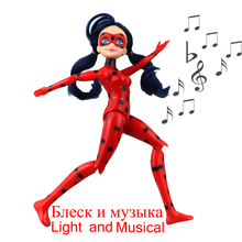 ФОТО Miraculous Ladybug and Cat Toy Lady Bug Doll  Birthday s Action Figure Toys for Children 27CM