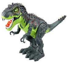 Классические развивающие игрушки большой размер ходьба Электрический динозавр Робот Игрушки с музыкальным светом ходьба звуки модели игрушки для детей в подарок