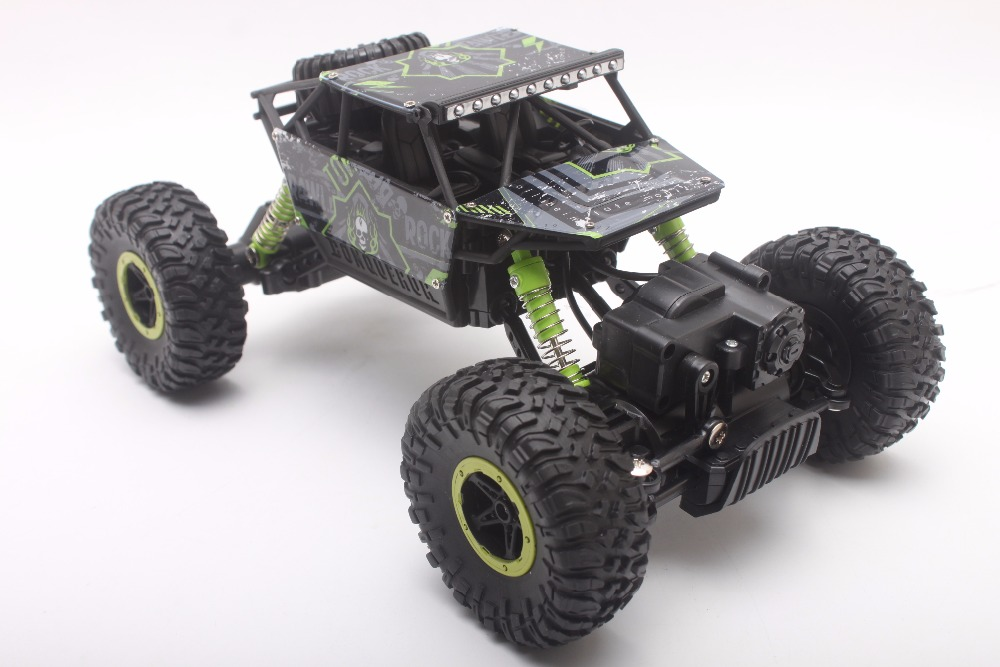RC Car 2.4GHz Rock Crawler Rally Car 4WD Truck 1:18 Scale Off-road Race Vehicle Buggy Electronic Remote Control Model Toy 1803 1 18 scale red jeep wrangler willys alloy diecast model car off road vehicle model toys for children gifts collections