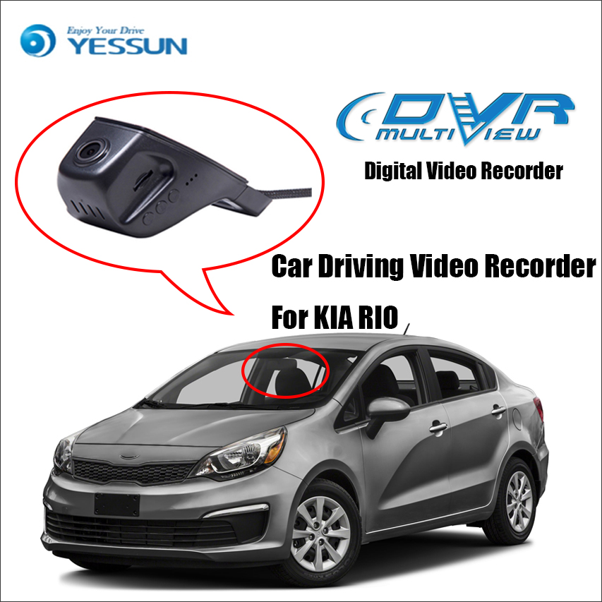 YESSUN For KIA RIO Car Front Dash Camera Not Reverse Parking Camera /DVR Driving Video Recorder - For iPhone Android APP Control yessun for iphone android app car front dash camera cam for jeep wrangle dvr driving video recorder control black box functi