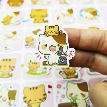 20/40pcs Cartoon Funny Cute Kitten Diary Sticker Scrapbook Decoration PVC Stationery Sticker Random Not Repeat фото