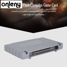 Onleny 16-bit Super Flash Game Drive Flash Cartridge TV Video Games Console Gaming Card Plug & Play for SUPER MARIO ALL STAR