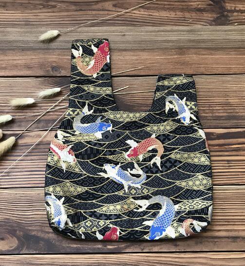 Kimono Bag Japanese Vintage Bag Bundle Pocket