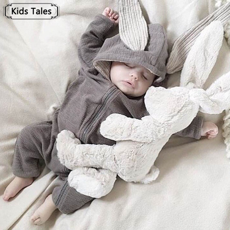 Cute Rabbit Ear Hooded Baby   Rompers   For Babies Boys Girls Clothes Newborn Clothing Jumpsuit Infant Costume Baby Outfits SR385
