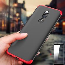 GKK Case for Oneplus 5T 5 Oneplus 6 Case Shockproof 360 Full Protection Armor Hard 3 in 1 Matte Cover for Oneplus 5 GIft Glass