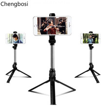 3 In 1 Wireless Tripod Monopod Selfie Stick Bluetooth with Button Selfie Stick for Android OS Iphone 678 Plus IOS Selfie Sticks selfie bluetooth selfie stick tripod universal selfie stick mobile phone monopod for android ios for iphone 6 7 8