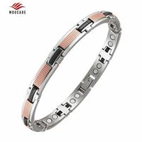2018 Moocare Magnetic Bracelets Chain & Link Bracelets Stainless Steel Trendy Health Healing For Women Gifts With Box