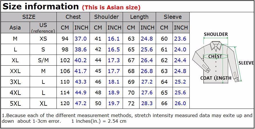 Casaca abrigo para hombre slim fit s 170 00 en mercado for Mens dress shirts sizes