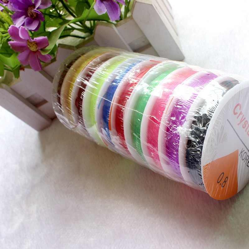 1 рулон, 0,6 мм, 0,8 мм, 1,0 мм, цветной эластичный шнур для бисероплетения, шнур/веревка/нить, сделай сам, для изготовления ювелирных изделий, браслет, ожерелье, шнур