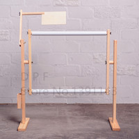 DPF Adjustable Solid Wood Cross Stitch Rack 50cm Embroidery Frame Wooden Stand Desktop Use For Cross