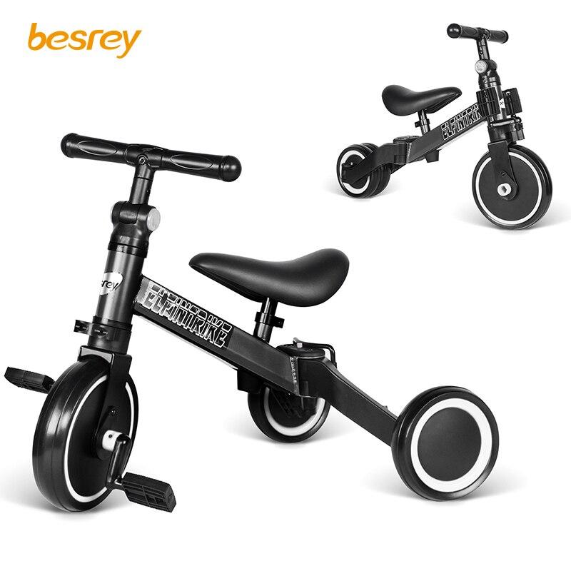 Besrey Kids 3 en 1 tricycle léger pour bébé vélo Balance vélo bébé marcheur pour enfants de 2 à 5 ans intérieur extérieur