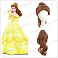 Beauty and the Beast Belle Brown Style Cosplay Wigs Ponytail Cos Wigs Free Shipping