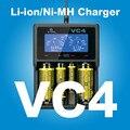 2017 Original Carregador XTAR VC4 Universal Tela Lcd USB Ni-MH/Ni-CD Bateria Li-ion Carregador Com Varejo pacote PK D4 D2
