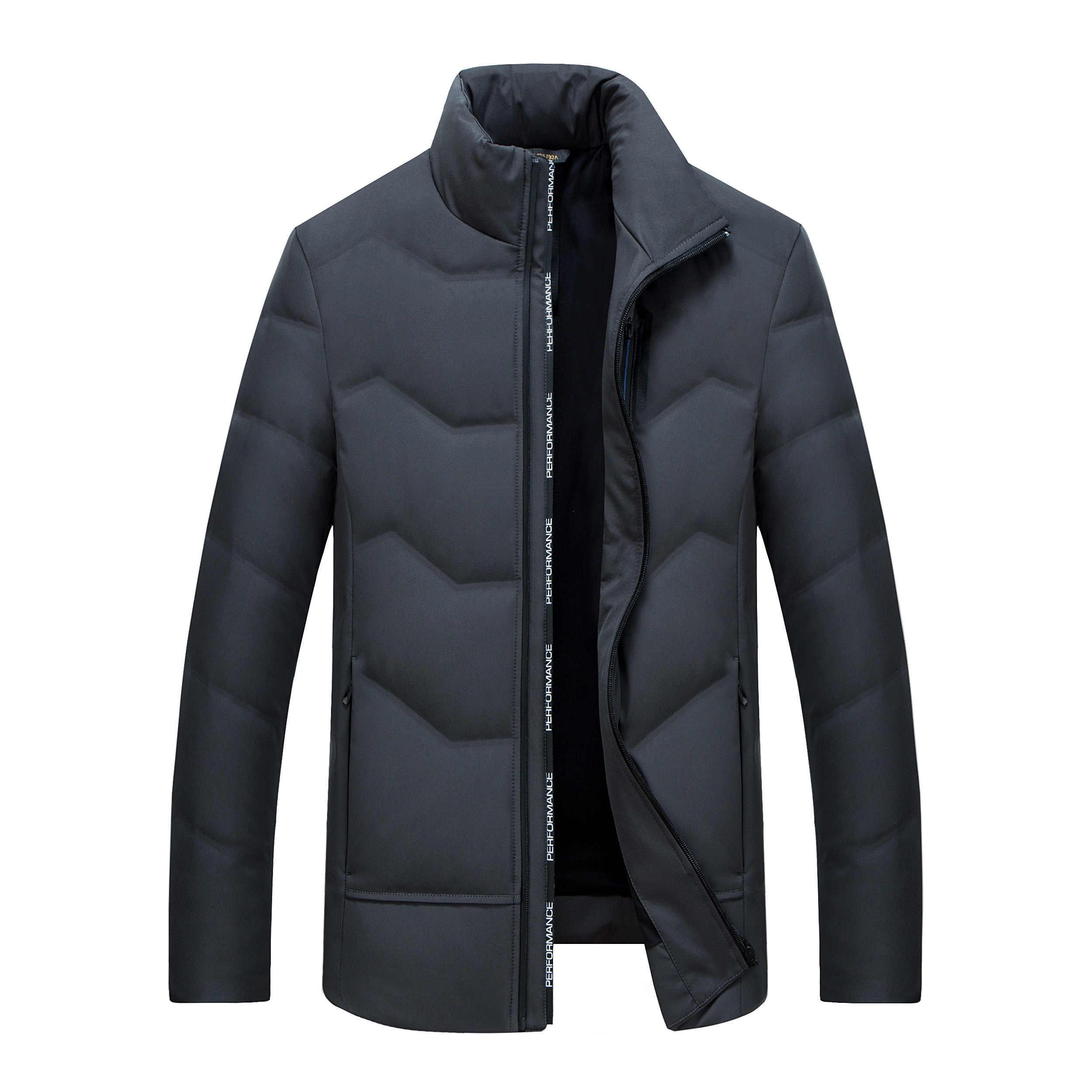 QUANBO брендовая одежда 2019 новый зимний толстый теплый пуховик для мужчин с воротником-стойкой Тонкий 90% белый пуховик на утином пуху короткое пальто