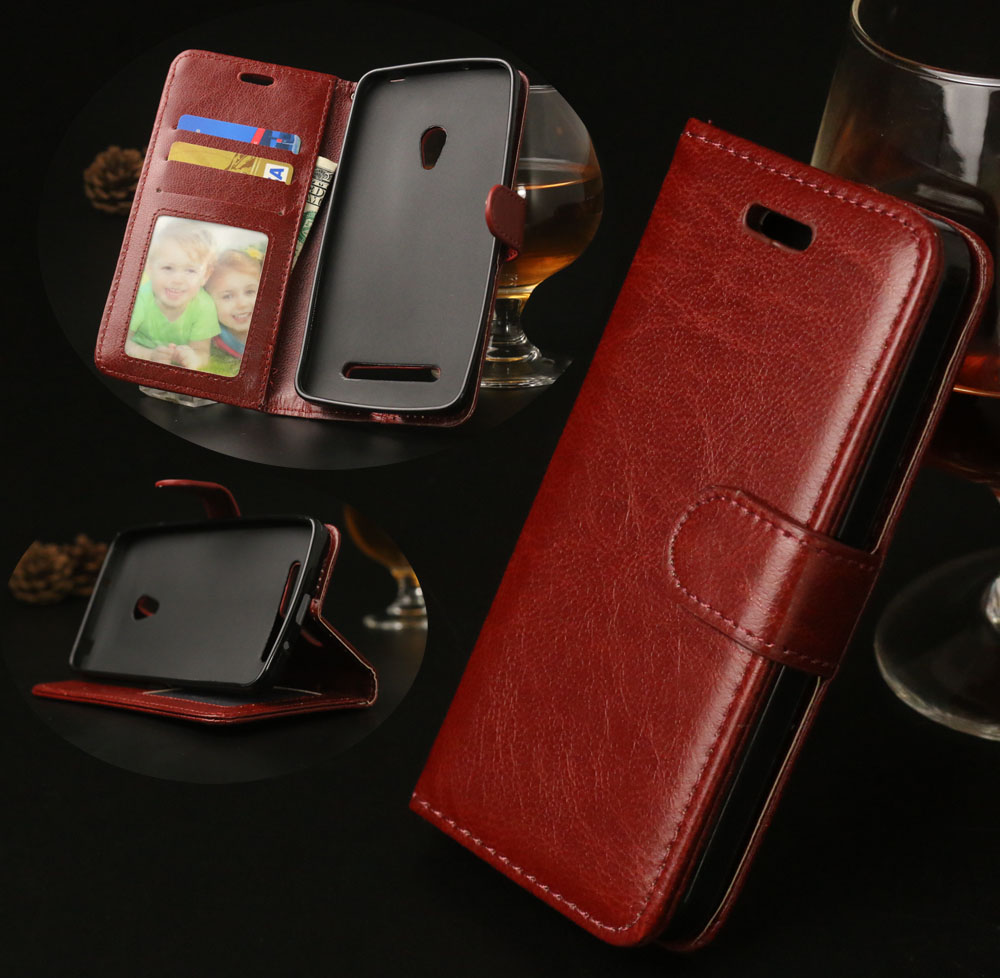 ZenFone5 Luxury Wallet Leather Case For <font><b>Asus</b></font> <font><b>Zenfone</b></font> <font><b>5</b></font> <font><b>A501CG</b></font> <font><b>A500CG</b></font> Phone Cases with Card Holder Stand Design Mobile Bag Cover image