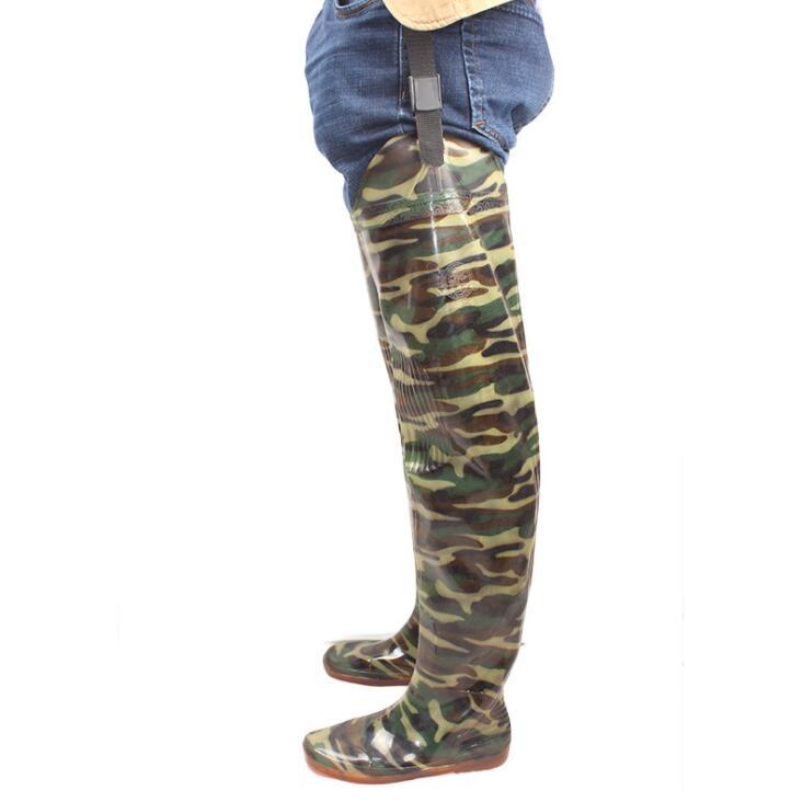 Inverno D' Blue Grosso Do Prova 1 deslizamento De Trabalho knee camouflage Homens the Não 70cm 80cm Água camouflage Over camouflage Wellies Outono Segurança Botas Sapatos À Pesca Pvc 2 Chuva Rouroliu Rt320 camouflage 7xqwHS55