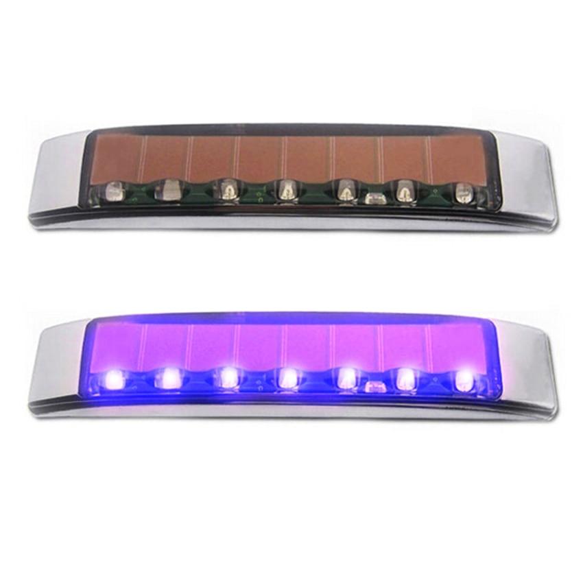 LED Wireless Car Solar Store Warning Lights Flash Width Lights Side Singnal Blinker Remove car static electricity