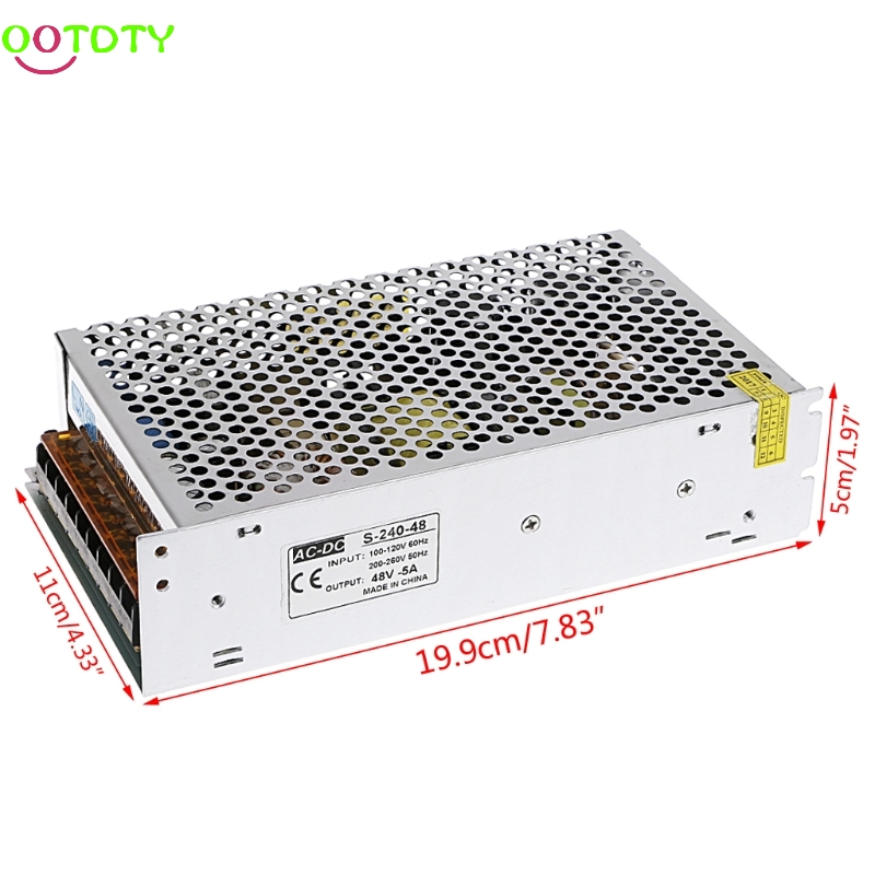 AC 100-260V To DC 48V 5A 240W Switch Power Supply Driver Adapter LED Strip Light 828 Promotion