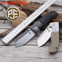 Petrified fish PF710 Hunting Knife 60HRC AUS8 Blade G10 Handle Bearing Folding Outdoor Survival Pocket Free Shipping