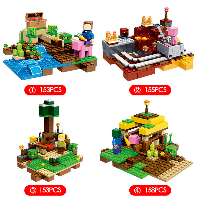 2018 NEW Technic My World Harvest Series Building Blocks Compatible LegoINGLYS Minecrafter Bricks Toys for Children Gift 4