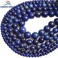 CAMDOE DANLEN 100% натуральный Лазурит Круглые бусины 4 6 8 10 12 мм Diy браслет ожерелье Модные ювелирные изделия изготовление Рождественский подарок - фото