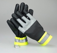 Free Shipping Hot Selling 2 Pairs Police Instruction Gloves Artificial Lamb Touching Leather Thicken Thermal Full