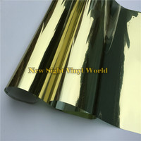 VLT 15% Gold Silver Window Tinting Film For Buliding Home Office Size:1.52*30m/Roll