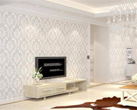 Beibehang Papel De Parede Luxury 3D Wallpaper Nordic Damascus Pattern Living TV Backdrop Bedroom Bedroom Wallpaper