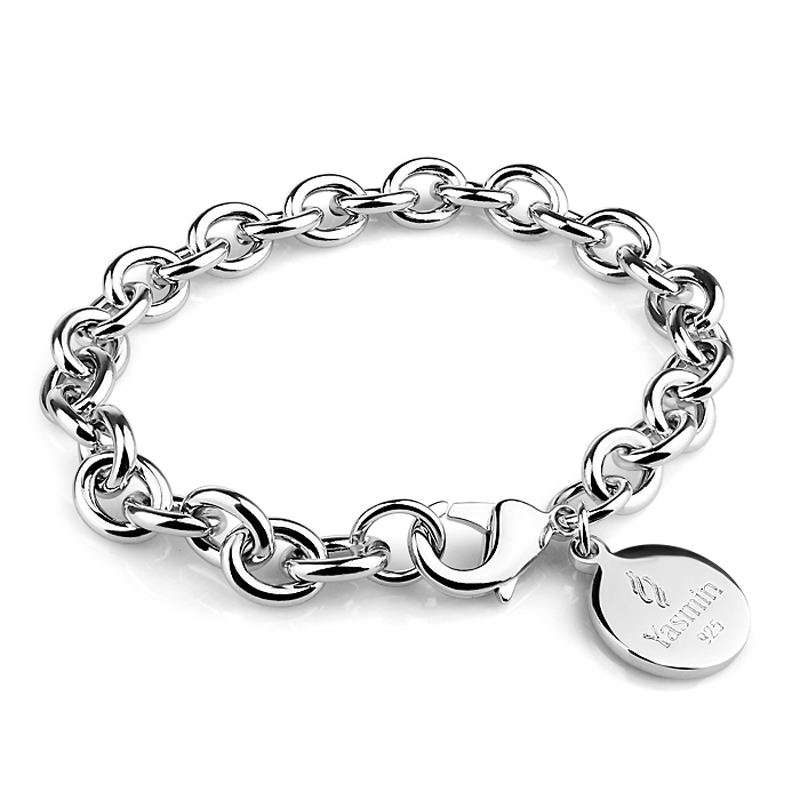 New fashion sterling silver bracelet solid 925 silver ...