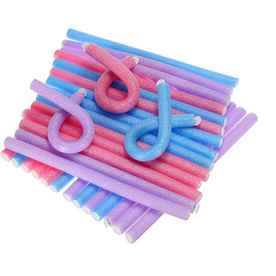 Good 10pcs Soft Foam Sponge Hair Curler Roller Curl Bendy