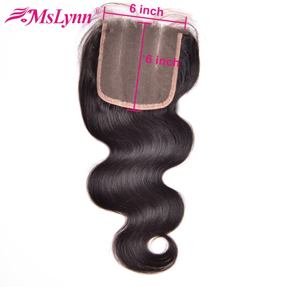 6x6 Lace Closure Brazilian Body Wave Lace Closure Human Hair Closure With Baby Hair 8 20