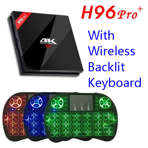 H96 Pro + Amlogic S912 Octa base Android 7.1 TV Box 3G/32G 2.4G/5 GHz WIFI Bluetooth Gigabit LAN 4 K DLNA Google Play Set Top boîte