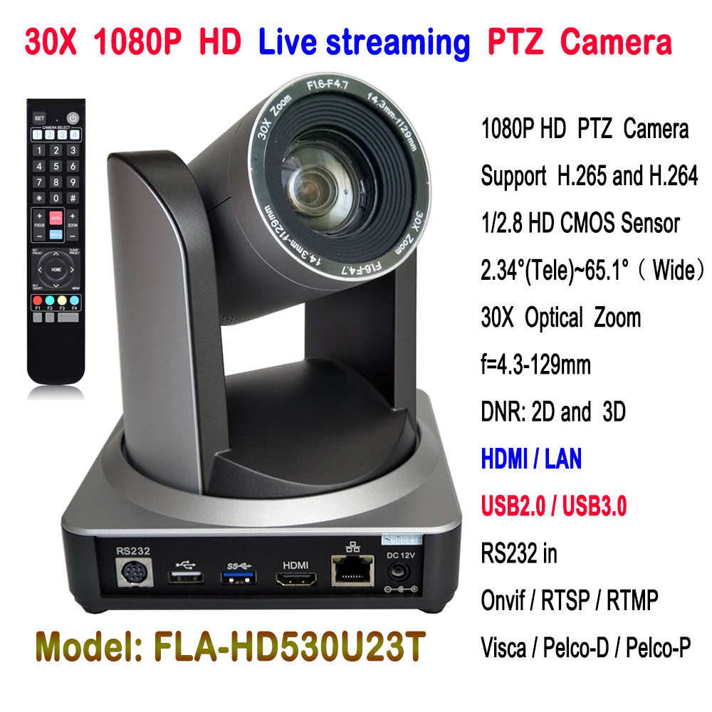 2MP HDMI IP PTZ Camera 1080P broadcasting quality video conference camera 30x zoom USB2.0 USB3.0