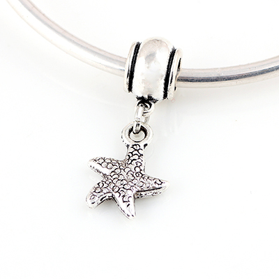 b0d70ffd6 10 Pcs a Lot Alloy Starfish Pendant Spring DIY Gift Beads Spacer Chunky Charm  Pendant Bead Fit For Pandora Charms Bracelets -in Beads from Jewelry ...