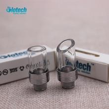 Glotech 5pcs Drip tips 510 metal Mouthpiece Pyrex Glass Stainless Steel E cigarette for RDA RBA taifun kayfun V4 atomizer