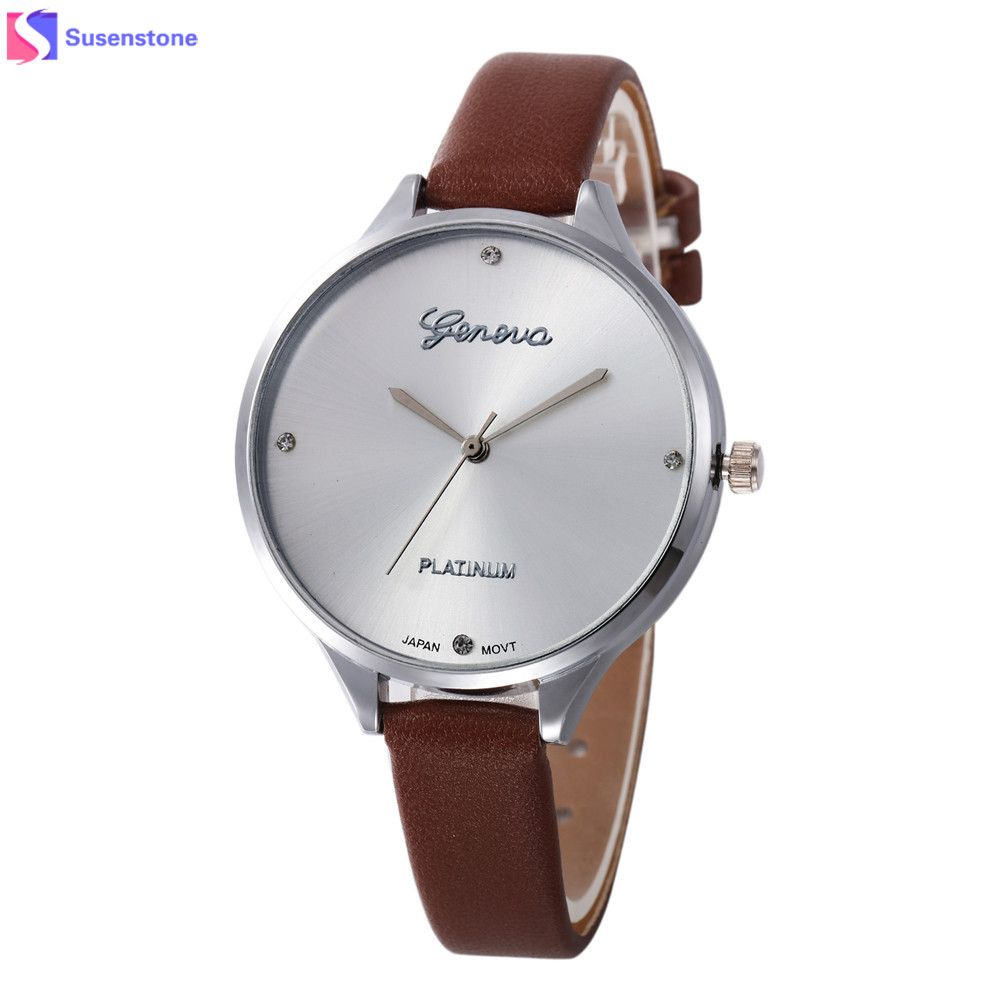 New Watch Women Fashion Faux Leather Analog Quartz Women Watches Simple Designed Ladies Casual Wrist Watch Colck Relogio mance 11 colors new fashion ladies watches roman numerals faux leather analog quartz women men casual relogio hours wrist watch