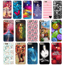 "C Soft TPU Honor 7X Case Cover Drawing Painted 5.93"" Huawei Honor 7X Case Phone Back Protective Silicone Case Honor 7(China)"