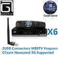 Solovox x6 dvb-s2 hd tv vía satélite receptor cccam newcam mgcam youtube youporn usb wifi 3g apoyo decodificador de satélite