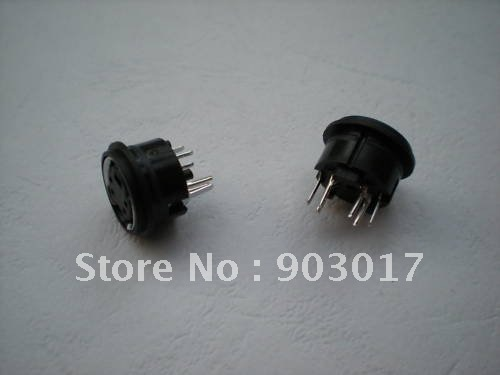 10 Pcs Mini 4 Pin Circular PCB Mount DIN Connector